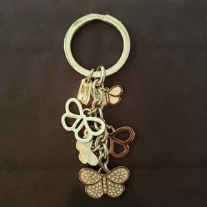 Authentic Coach Butterfly Keychain Keyring Key Fob